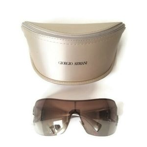Giorgio Armani sunglasses frameless brown